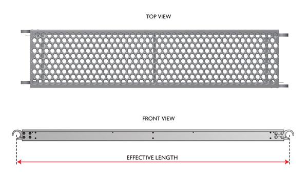 "19"" Wide Aluminum Frame Steel Deck"