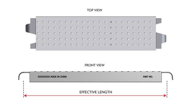 """9"""" Low Profile Steel Plank"""