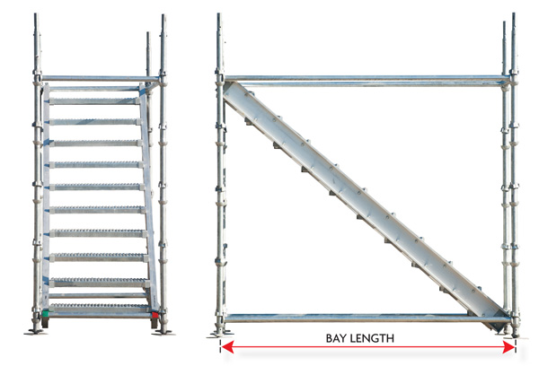 Aluminum Scaffold Stairs : Aluminum stair stringer dss cup lock scaffold ring