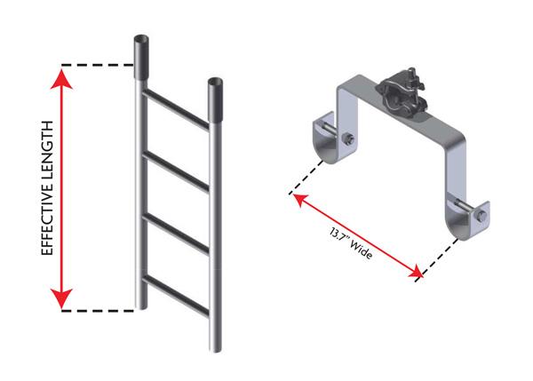 Heavy Duty Steel Ladder & Bracket