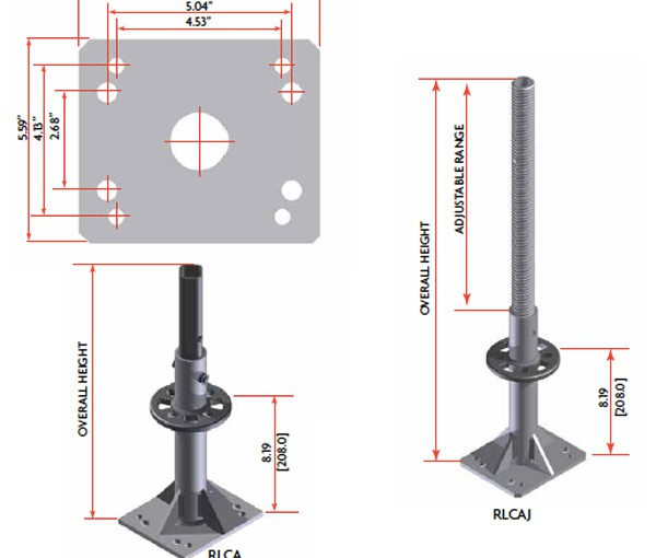 Ring Lock Caster Adapter Dss Cup Lock Scaffold Ring