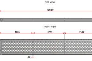 19″ Wide Aluminum Deep Rail Steel Top Board