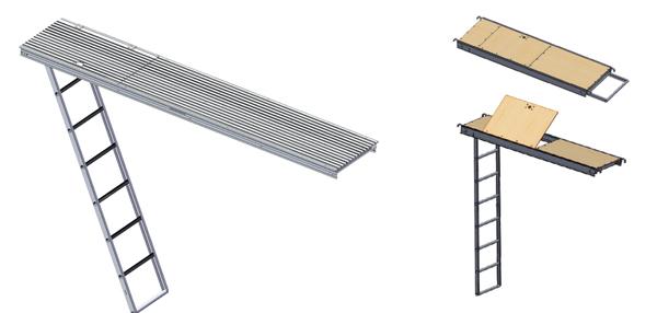Ladder Walk Boards : Quot hatch plank w aluminum ladder dss cup lock